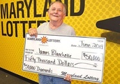 Maryland man's second lottery jackpot is twice the size of his first