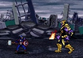 The final fight scene from Avengers: Endgame, reimagined as a 16-bit video game
