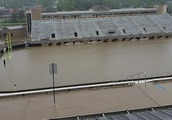 It rained so much at Western Michigan University that its football stadium turned into a swimming po