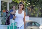 Exclusive: Former George Clooney love interest Elisabetta Canalis is seen makeup free, wearing sweat