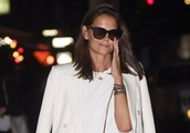 Exclusive: Katie Holmes steps out for dinner with a friend in New York City this evening, just hours