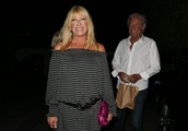 Suzanne Somers spotted leaving popular restaurant in Santa Monica with family and friends