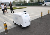 5G-assisted unmanned delivery car supports smart retail in Nanjing