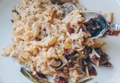 Baked Mushroom Risotto With Rosemary and Dried Cranberries [Vegan]