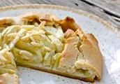 Almond Apple Galette With Cashew Almond Cream [Vegan, Gluten-Free]