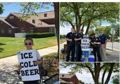 Boy selling 'ICE COLD BEER' has police called on him in clever 'marketing strategy'