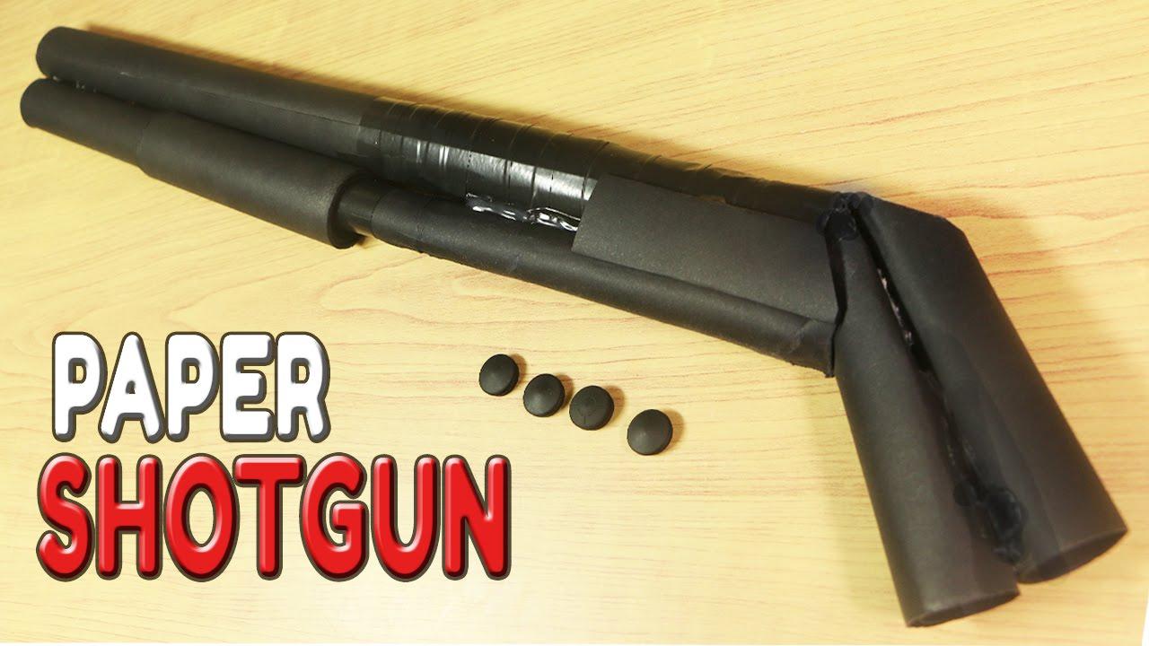 How To Make A Paper Shotgun That Shoots Bullets