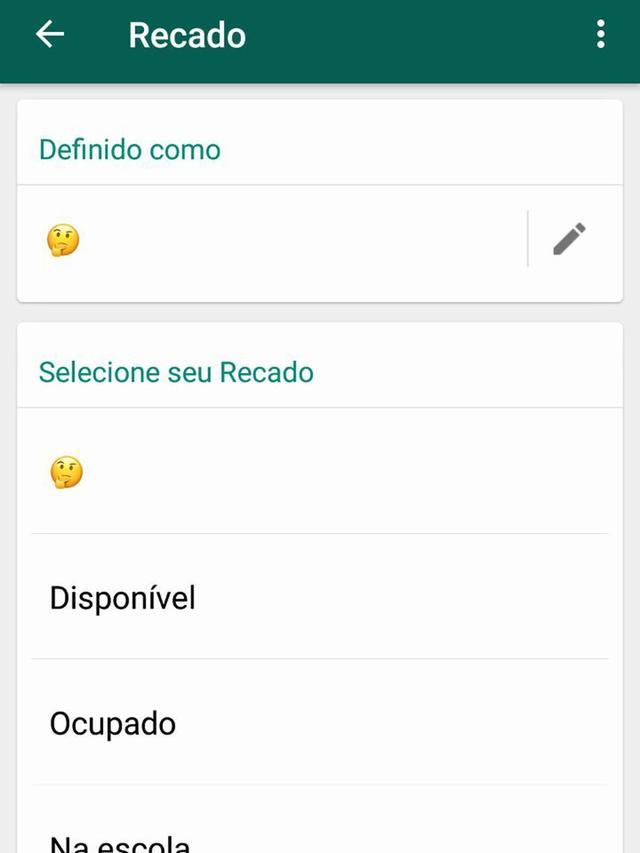 WhatsApp traz de volta 'status antigo' em definitivo em versão para Android