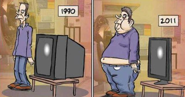 12 Cartoons Showing The 'Then & Now' Of Today's World