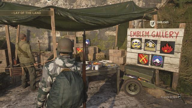 Juste En Haut De La Colline Tour Scorestreak Est Tente Emblem Gallery DansCall Of Duty WW2 Carte Qui Affiche Le Nom Votre Joueur