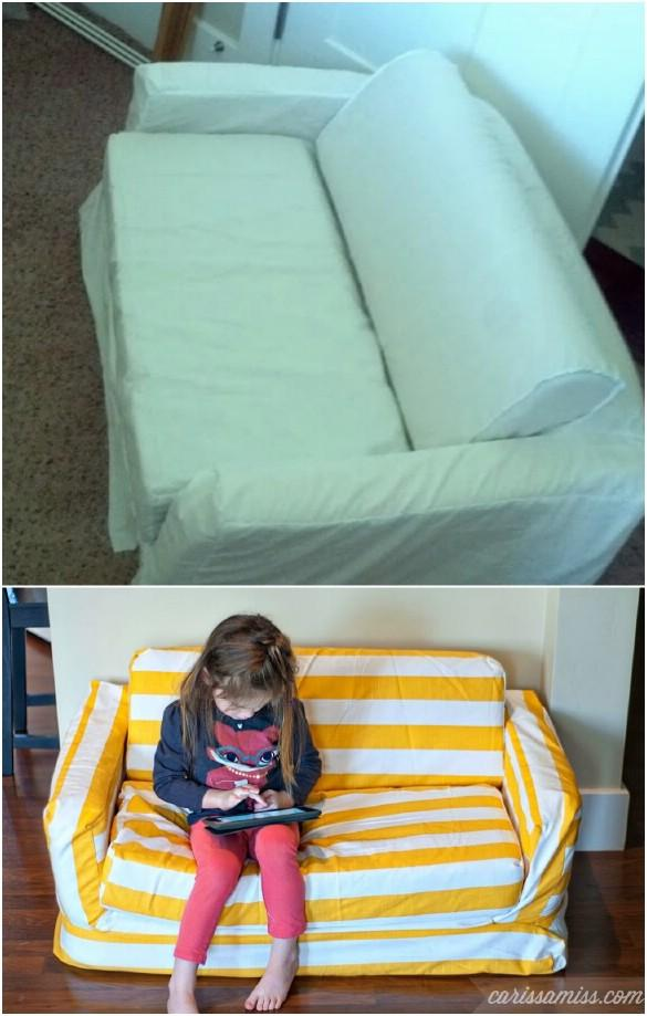 20 Easy To Make DIY Slipcovers That Add New Style To Old