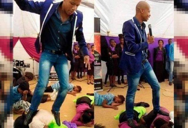 Pastor acredita ser santo e, para não pisar em