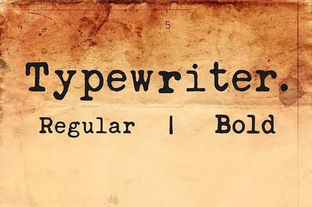 Typewriter Fonts You Need To Create Classic Designs_国际_蛋蛋赞