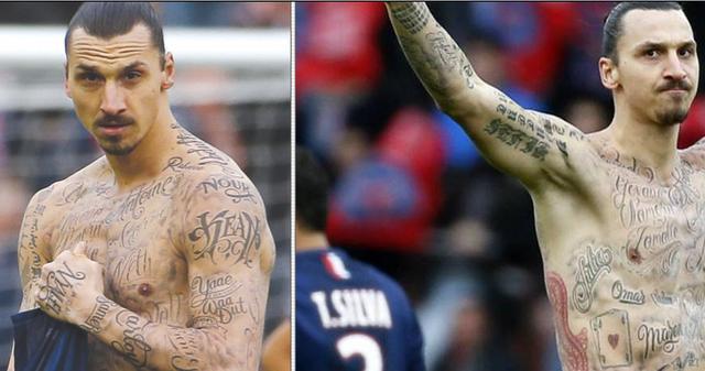Le Tatouage Complet De Zlatan Ibrahimovic Est Le Plus Zlatan