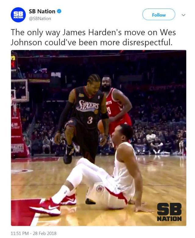 7ee001c5007a James Harden fait un tueur contre Wes Johnson sur le court