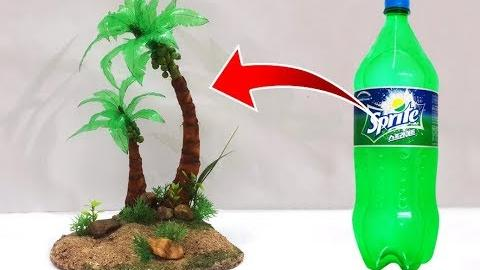 Easy Best Out Of Waste Recycled Craft Ideas Diy Coconut Tree