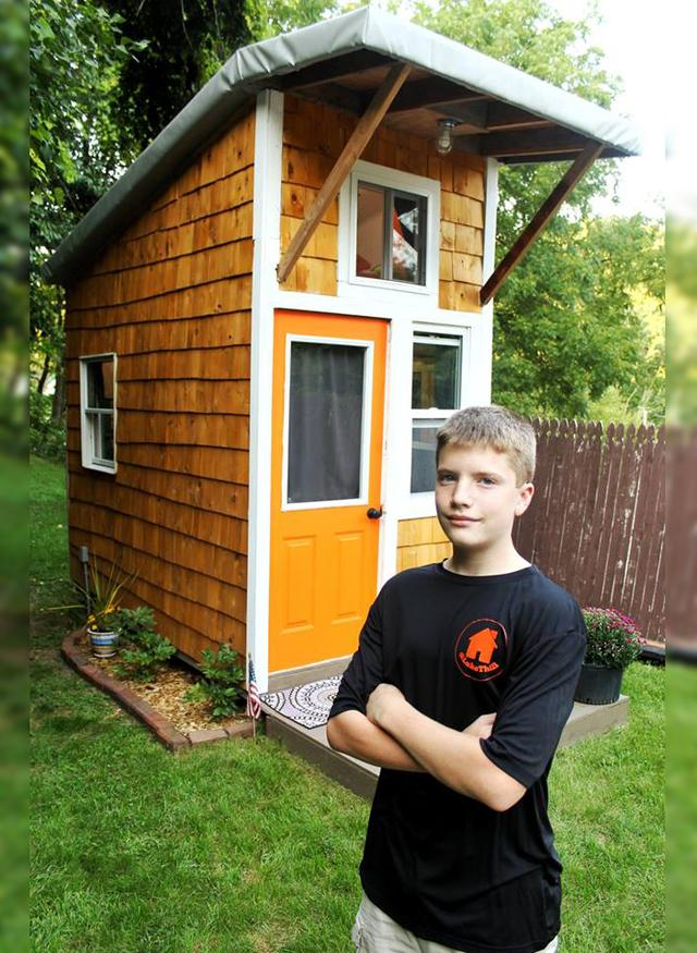 A 13-Year-Old Built This Tiny House For $1,500 – And When You See The Inside You'll Be Astounded