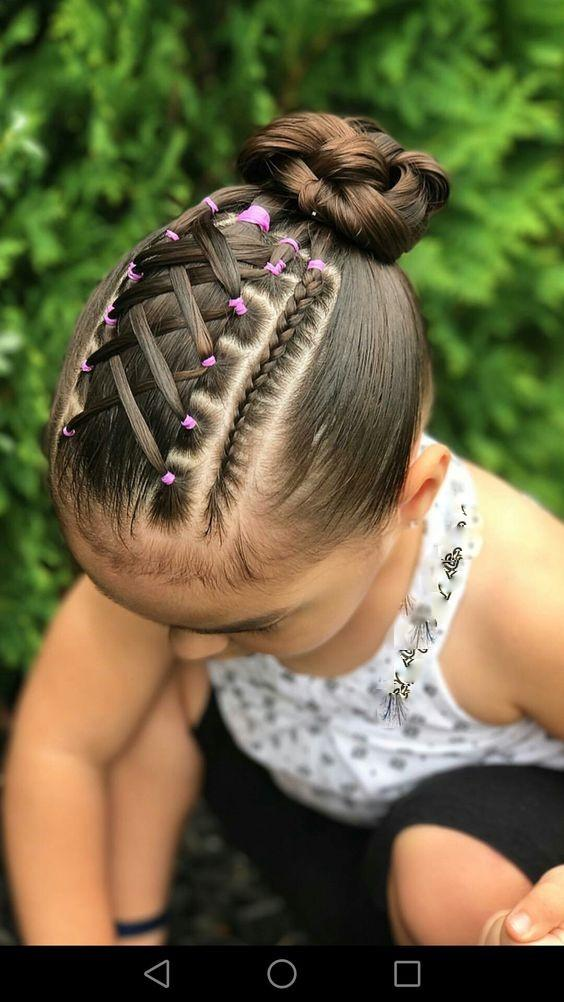 Hairstyles For Children With Elastic Bands Of Different