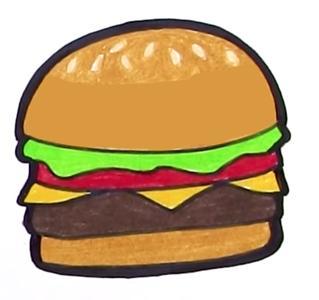 How To Draw A Burger ś½é™… ț‹è›‹èµž