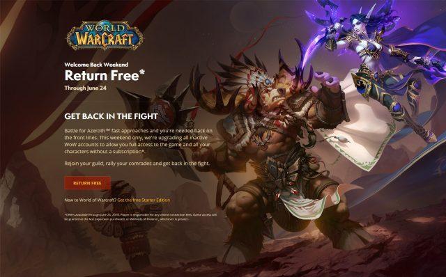Gratis Semana Todos World Este Es Para Warcraft Of Fin Jugar De lFKJ1c