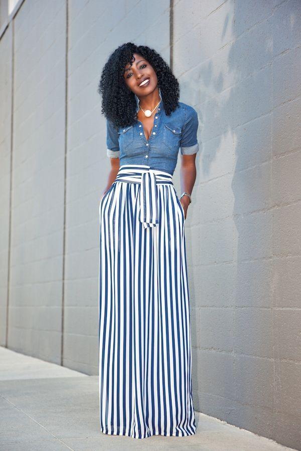 moda feminina calça listrada
