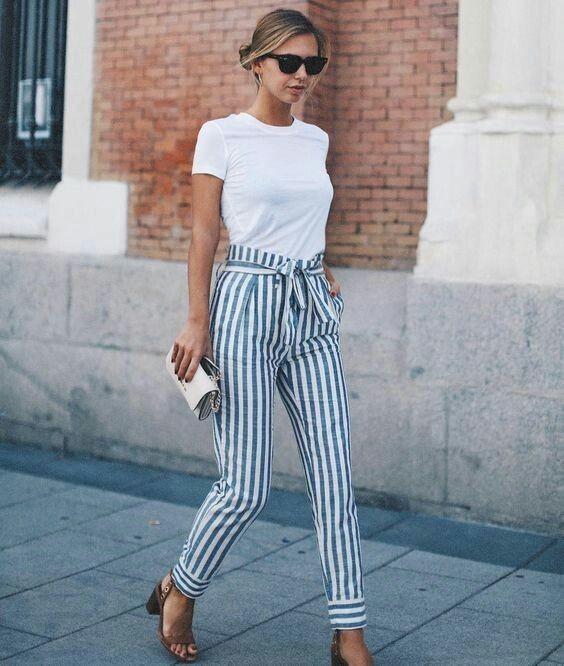 calça listrada como se usa