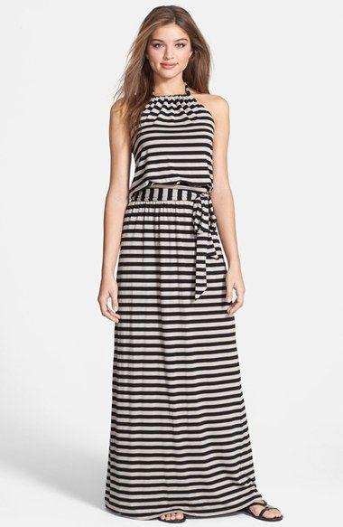 tendência de vestidos com listras