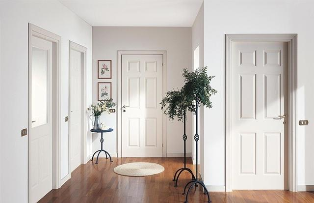 The Color of the Floor and Doors in the