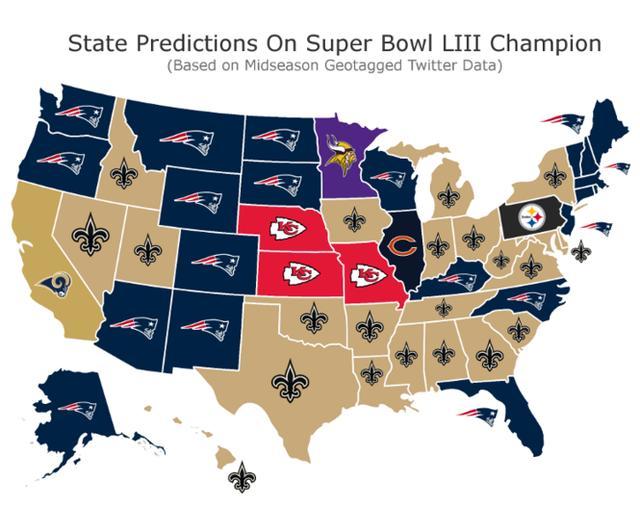 679ceca1a2195 Données de cartes de tendances pour les prévisions du Super Bowl LIII.  (Sportsbetting.ag) sportsbetting.ag