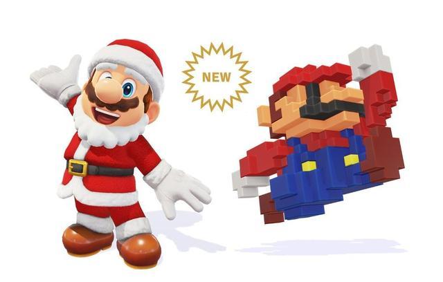 Super Mario Odyssey Fügt Zwei Neue Outfits Für Die Weihnachtszeit