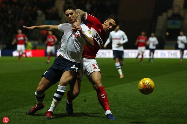 Preston North End v Middlesbrough, Sky Bet Championship, Football, Deepdale, Preston, UK - 27 Nov 2018