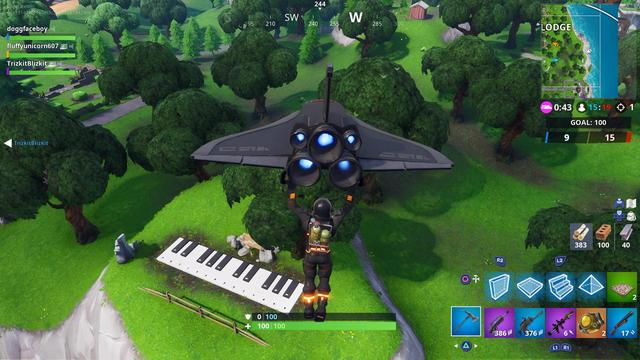 Defi Fortnite Ou Jouer Les Partitions Sur Un Piano Pres De Lonely