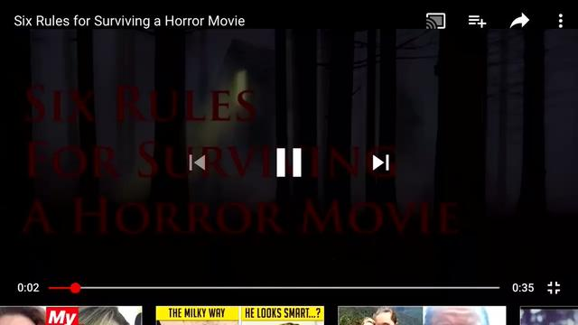 6 Rules of Surviving a Horror Movie