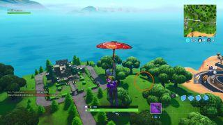 search where the knife points on the treasure map loading screen in fortnite season 8 - search where the knife points on the treasure map loading screen fortnite location