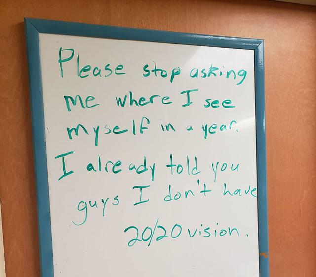 Guy Writes A Joke Every Day On A Whiteboard At Work Waiting For Someone To Stop Him (24 Pics)