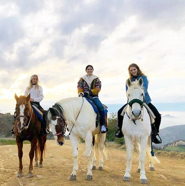 Selena Gomez Is All Smiles During Sunset Horseback Ride With Friends — New Pics