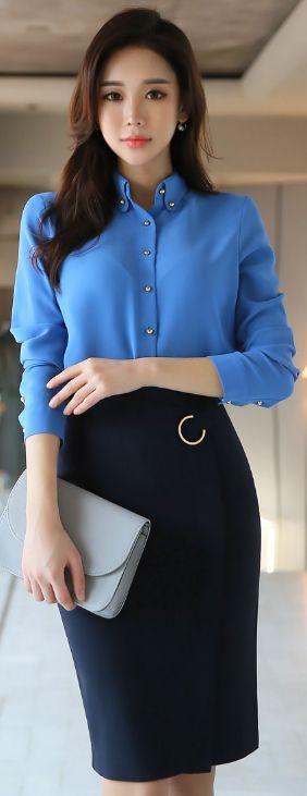 blusa azul ideias