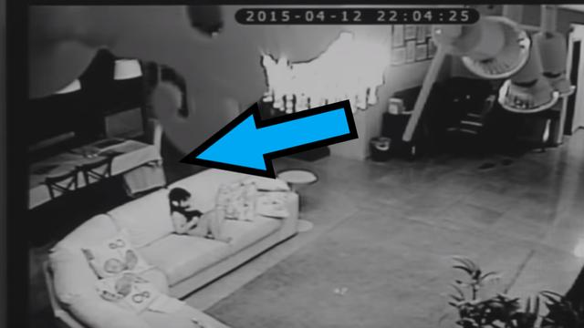 I Just Discovered the Freakiest Surveillance Footage of All Time (Just Keep an Eye on Where the Arrow Is Pointing)