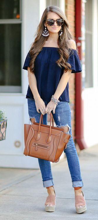 moda feminina blusa azul