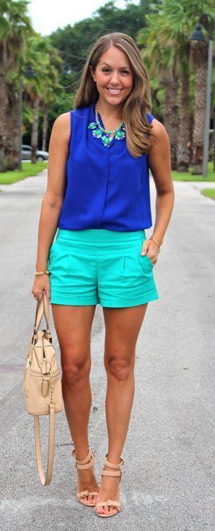 guia de moda blusa azul