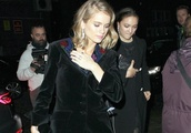 Cressida Bonas Arrives at Vogue and Tiffany & Co BAFTA Afterparty in London