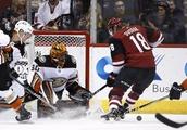 Antii Raanta makes 26 saves, Coyotes beat Ducks 2-0