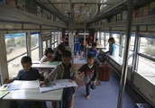 Blue bus of Kabul brings joys of reading to Afghan children
