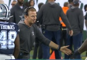 Frustrated Cowboys Players Awkwardly Leave Head Coach Jason Garrett Hanging While Making Their Way T