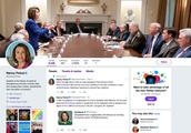 Trump tweeted a photo attacking Nancy Pelosi. She made it her Twitter cover photo