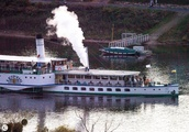 Paddle wheel steamer on the Elbe river