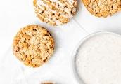 Strawberry Crumble Cookies With Vanilla Bean Glaze [Vegan]