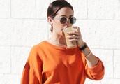 Exclusive: Ashley Tisdale Looks Ready For Halloween Wears A Bright Orange Sweatshirt In Halloween Sp