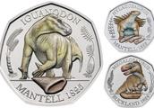 恐竜のコインだと!英国王立造幣局が50ペンス硬貨を3種の恐竜でデザイン