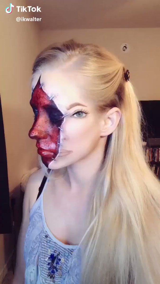 I Am Quietly Freaking Out Over This Horror Makeup Job to the Stars